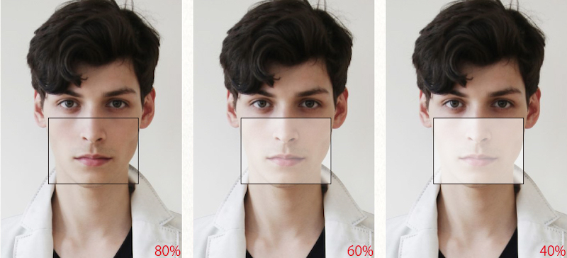 マスクの比較画像