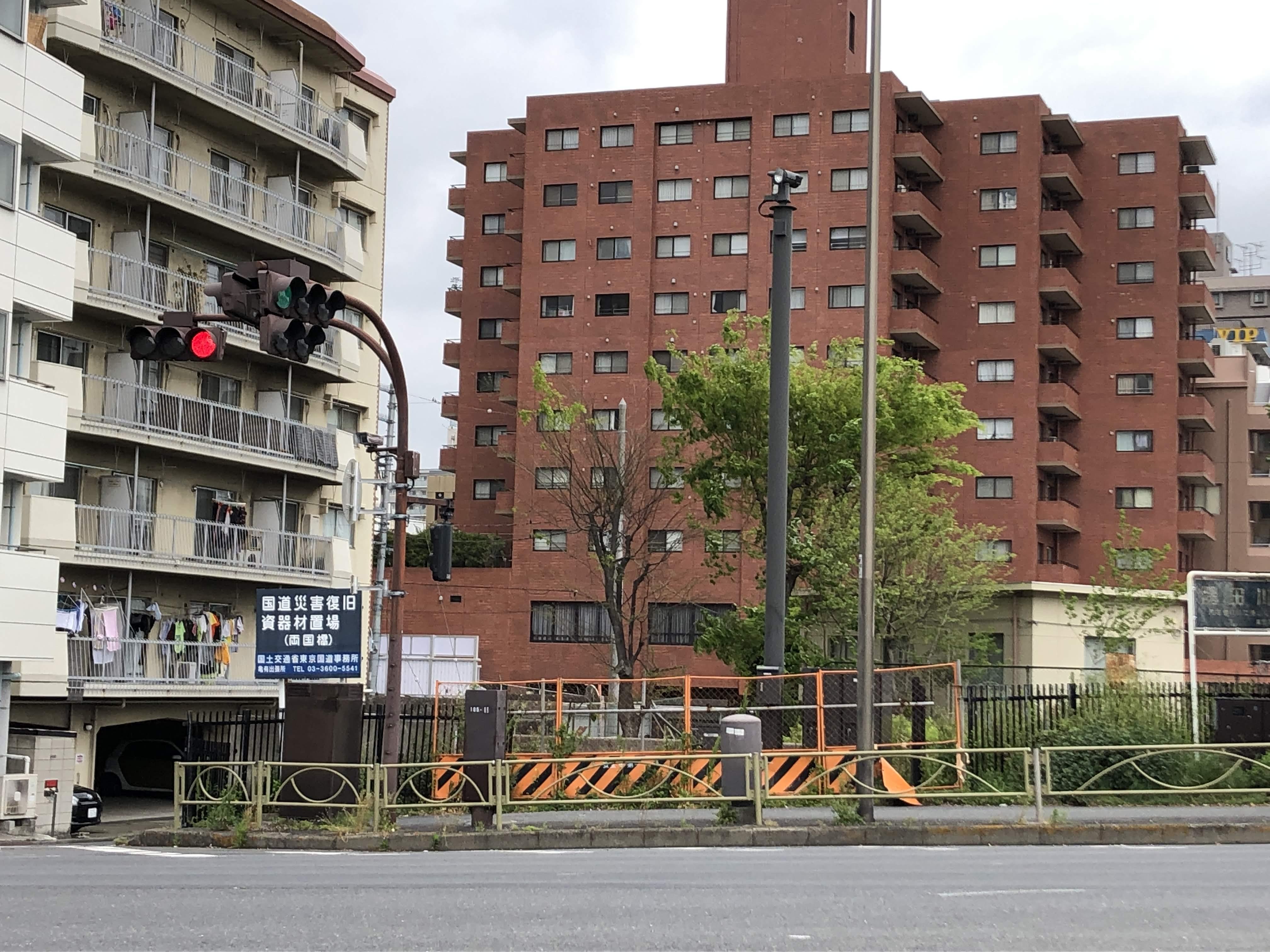 墨田区の国道災害復旧資機材置場