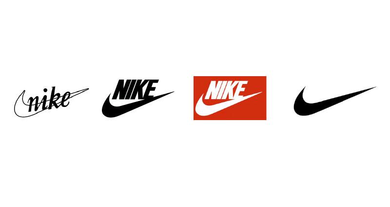 左から、1971年、1978年、1985年、1995年のロゴマーク
