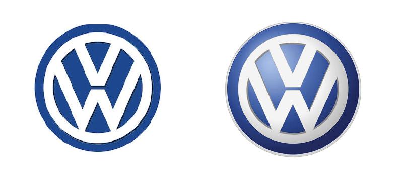 左:1995年〜のデザイン 右:2000年〜のデザイン