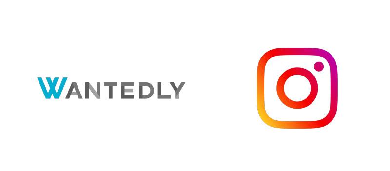 左:2010年に設立した「Wantedly」のロゴ 右:2016年にロゴマークを変更した「Instagram」